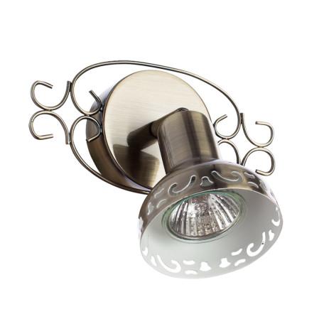 Настенный светильник с регулировкой направления света Arte Lamp Focus A5219AP-1AB, 1xGU10x35W, бронза, металл