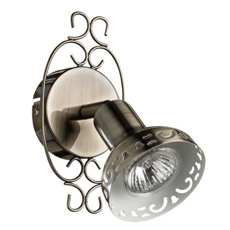 Настенный светильник с регулировкой направления света Arte Lamp Focus A5219AP-1BR, 1xGU10x35W, коричневый с золотой патиной, металл