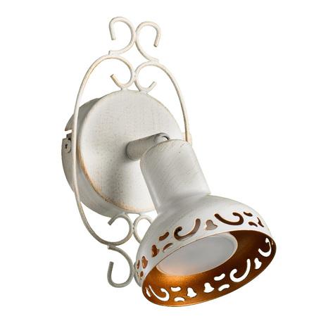Настенный светильник с регулировкой направления света Arte Lamp Focus A5219AP-1WG, 1xGU10x35W, белый с золотой патиной, металл