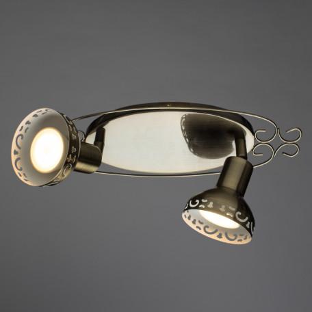 Настенный светильник с регулировкой направления света Arte Lamp Focus A5219AP-2AB, 2xGU10x35W, бронза, металл - миниатюра 2