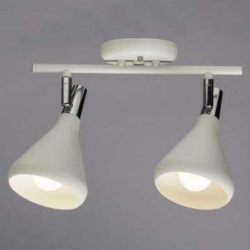 Настенный светильник с регулировкой направления света Arte Lamp Ciclone A9154AP-2WH, 2xE14x40W, белый, металл - миниатюра 2