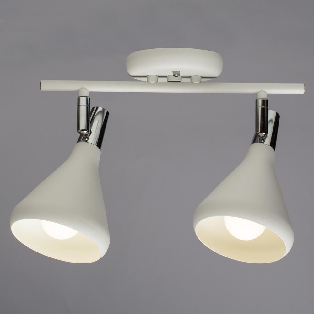 Настенный светильник с регулировкой направления света Arte Lamp Ciclone A9154AP-2WH, 2xE14x40W, белый, металл - фото 2