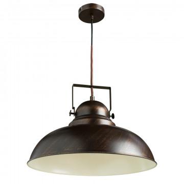 Подвесной светильник с регулировкой направления света Arte Lamp Martin A5213SP-1BR, 1xE27x75W, коричневый с золотой патиной, металл