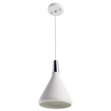 Подвесной светильник Arte Lamp Ciclone A9154SP-1WH, 1xE27x60W, белый, металл