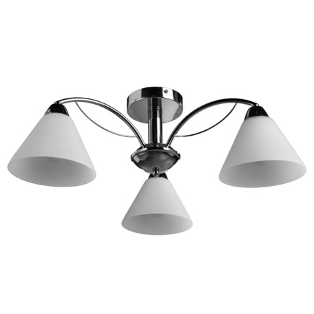 Потолочная люстра Arte Lamp Federica A1298PL-3CC, 3xE14x40W, хром, белый, металл, стекло - миниатюра 1