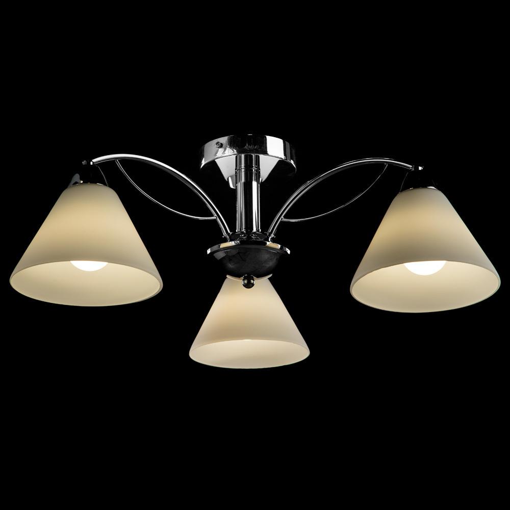 Потолочная люстра Arte Lamp Federica A1298PL-3CC, 3xE14x40W, хром, белый, металл, стекло - фото 2