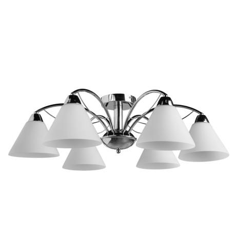 Потолочная люстра Arte Lamp Federica A1298PL-6CC, 6xE14x40W, хром, белый, металл, стекло