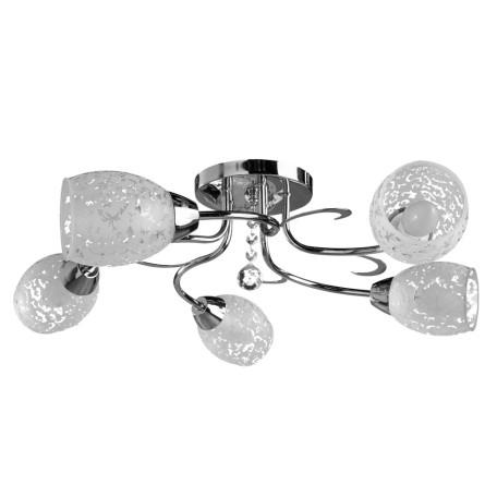 Потолочная люстра Arte Lamp Stefania A6055PL-5CC, 5xE14x60W, хром, белый, прозрачный, металл, стекло