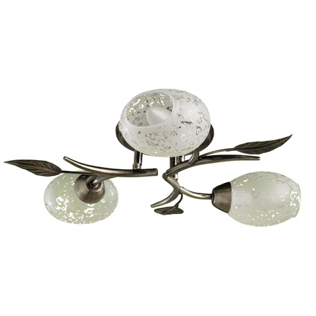 Потолочная люстра Arte Lamp Anetta A6157PL-3AB, 3xE14x60W, бронза, белый, металл, стекло