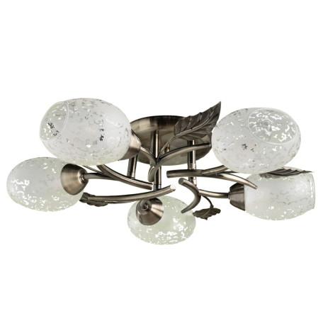 Потолочная люстра Arte Lamp Anetta A6157PL-5AB, 5xE14x60W, бронза, белый, металл, стекло