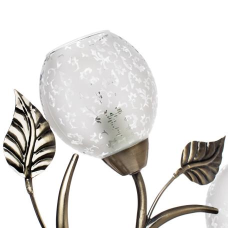 Потолочная люстра Arte Lamp Anetta A6157PL-5AB, 5xE14x60W, бронза, белый, металл, стекло - миниатюра 3