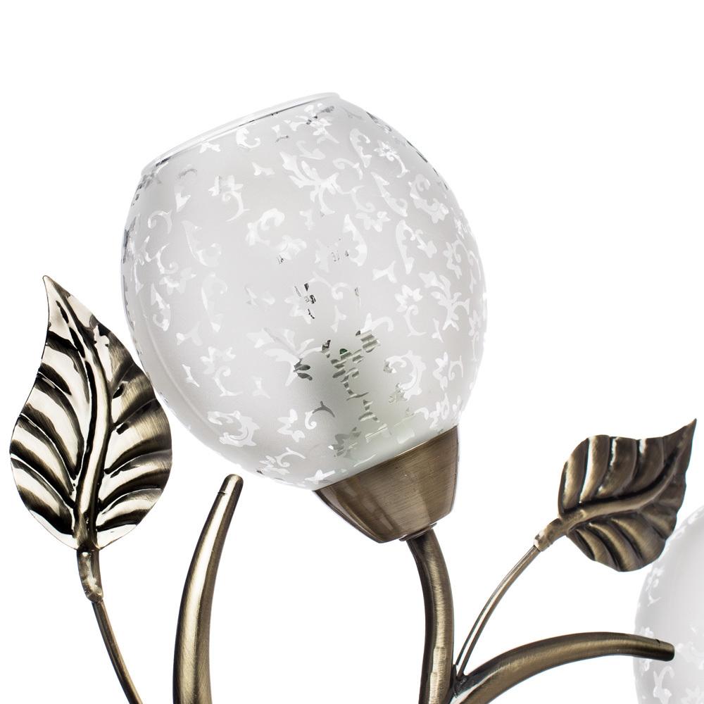 Потолочная люстра Arte Lamp Anetta A6157PL-5AB, 5xE14x60W, бронза, белый, металл, стекло - фото 3