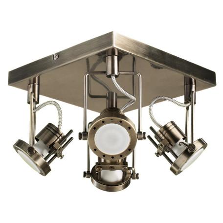 Потолочная люстра с регулировкой направления света Arte Lamp Costruttore A4300PL-4AB, 4xGU10x50W, бронза, металл