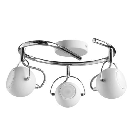 Потолочная люстра с регулировкой направления света Arte Lamp Spia A9128PL-3WH, 3xGU10x50W, белый, хром, металл