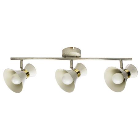 Потолочный светильник с регулировкой направления света Arte Lamp Baltimore A1406PL-3WG, 3xE14x40W, белый с золотой патиной, металл
