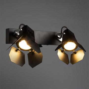 Потолочный светильник с регулировкой направления света Arte Lamp Cinema A3092AP-2BK, 2xGU10x50W, черный, металл