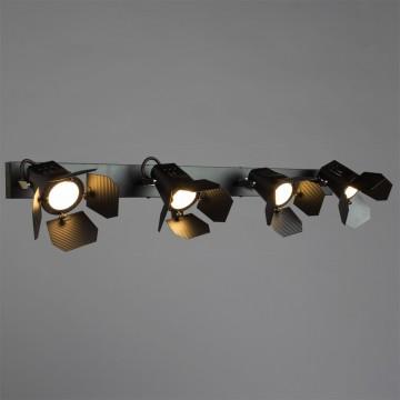 Потолочный светильник с регулировкой направления света Arte Lamp Cinema A3092PL-4BK, 4xGU10x50W, черный, металл