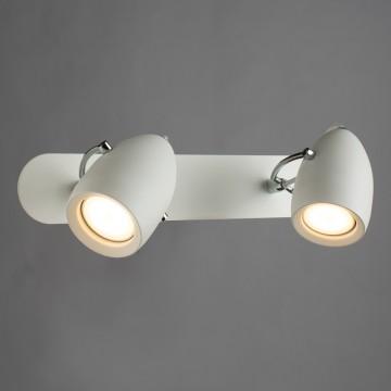 Потолочный светильник с регулировкой направления света Arte Lamp Atlantis A4004AP-2WH, 2xGU10x50W, белый, металл