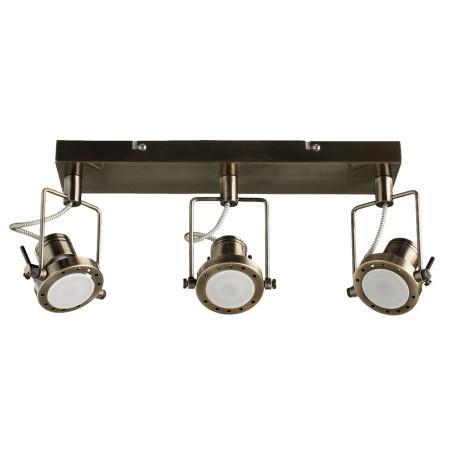 Потолочный светильник с регулировкой направления света Arte Lamp Costruttore A4300PL-3AB, 3xGU10x50W, бронза, металл