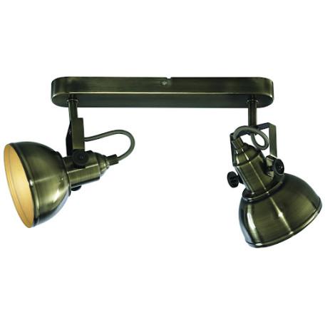 Потолочный светильник с регулировкой направления света Arte Lamp Martin A5213AP-2AB, 2xE14x40W, бронза, металл