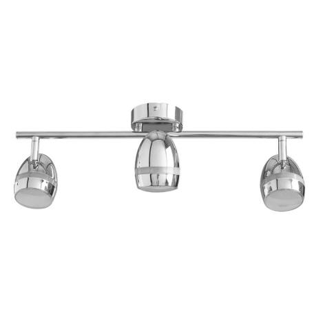 Потолочный светодиодный светильник с регулировкой направления света Arte Lamp Bombo A6701PL-3CC, LED 13,5W 3000K 1200lm CRI≥80, хром, металл, пластик