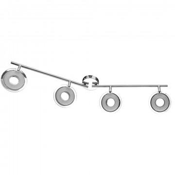 Потолочный светодиодный светильник с регулировкой направления света Arte Lamp Fascio A8971PL-4CC, LED 18W 3000K 1280lm CRI≥80, хром, металл, пластик