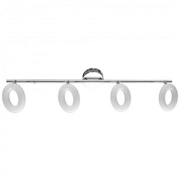 Потолочный светодиодный светильник с регулировкой направления света Arte Lamp Ciambella A8972PL-4CC 3000K (теплый), хром, белый, металл, пластик