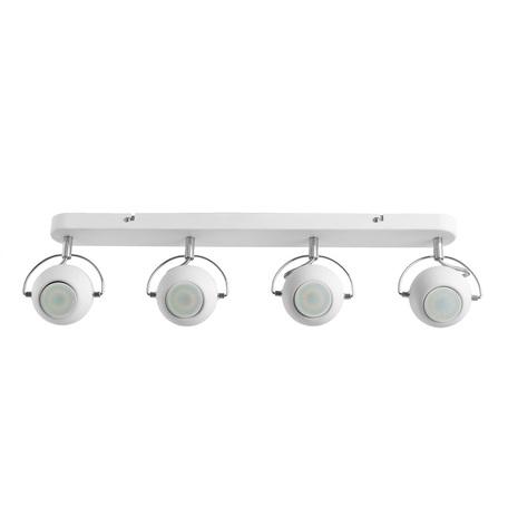 Потолочный светильник с регулировкой направления света Arte Lamp Spia A9128PL-4WH, 4xGU10x50W, белый, хром, металл