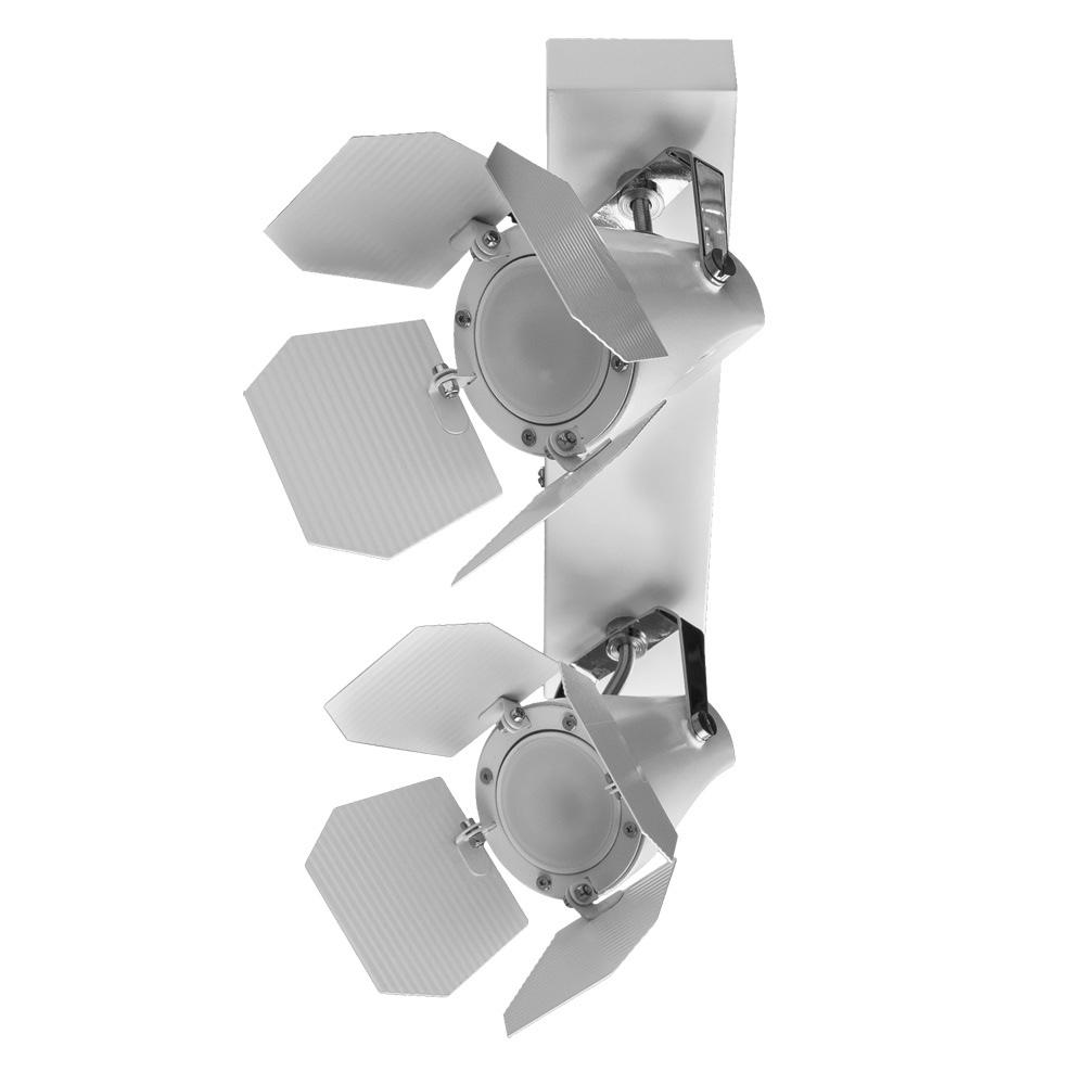 Потолочный светильник с регулировкой направления света Arte Lamp Cinema A3092AP-2WH, 2xGU10x50W, белый, металл - фото 1