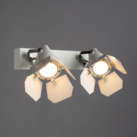 Потолочный светильник с регулировкой направления света Arte Lamp Cinema A3092AP-2WH, 2xGU10x50W, белый, металл - миниатюра 2
