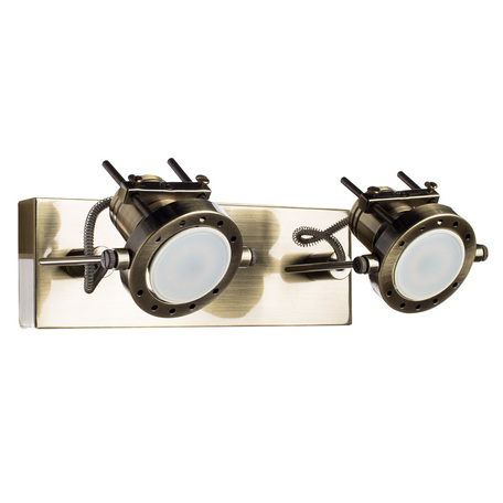 Потолочный светильник с регулировкой направления света Arte Lamp Costruttore A4300AP-2AB, 2xGU10x50W, бронза, металл