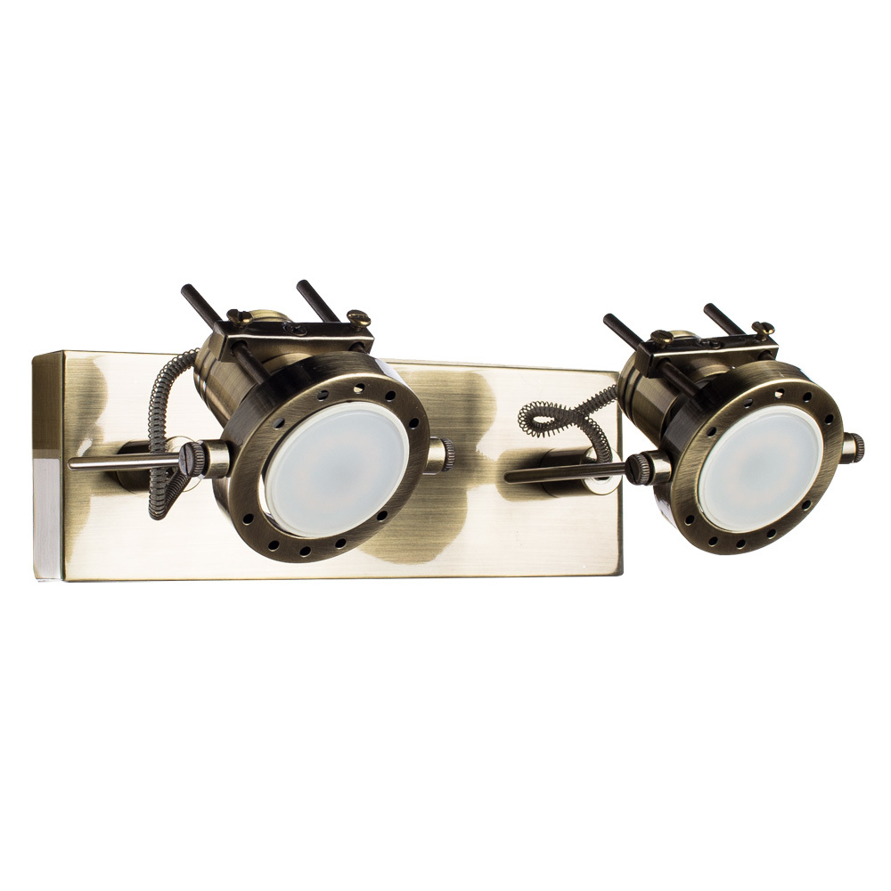 Потолочный светильник с регулировкой направления света Arte Lamp Costruttore A4300AP-2AB, 2xGU10x50W, бронза, металл - фото 1
