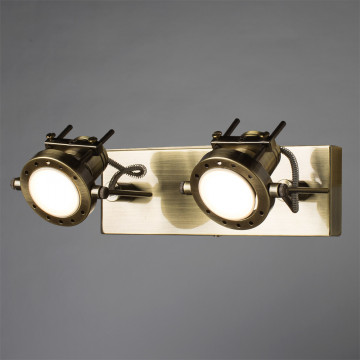 Потолочный светильник с регулировкой направления света Arte Lamp Costruttore A4300AP-2AB, 2xGU10x50W, бронза, металл - миниатюра 2