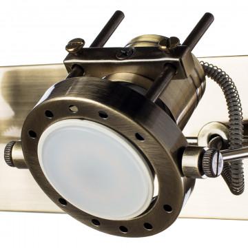 Потолочный светильник с регулировкой направления света Arte Lamp Costruttore A4300AP-2AB, 2xGU10x50W, бронза, металл - миниатюра 4