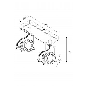 Схема с размерами Arte Lamp A4300AP-2AB