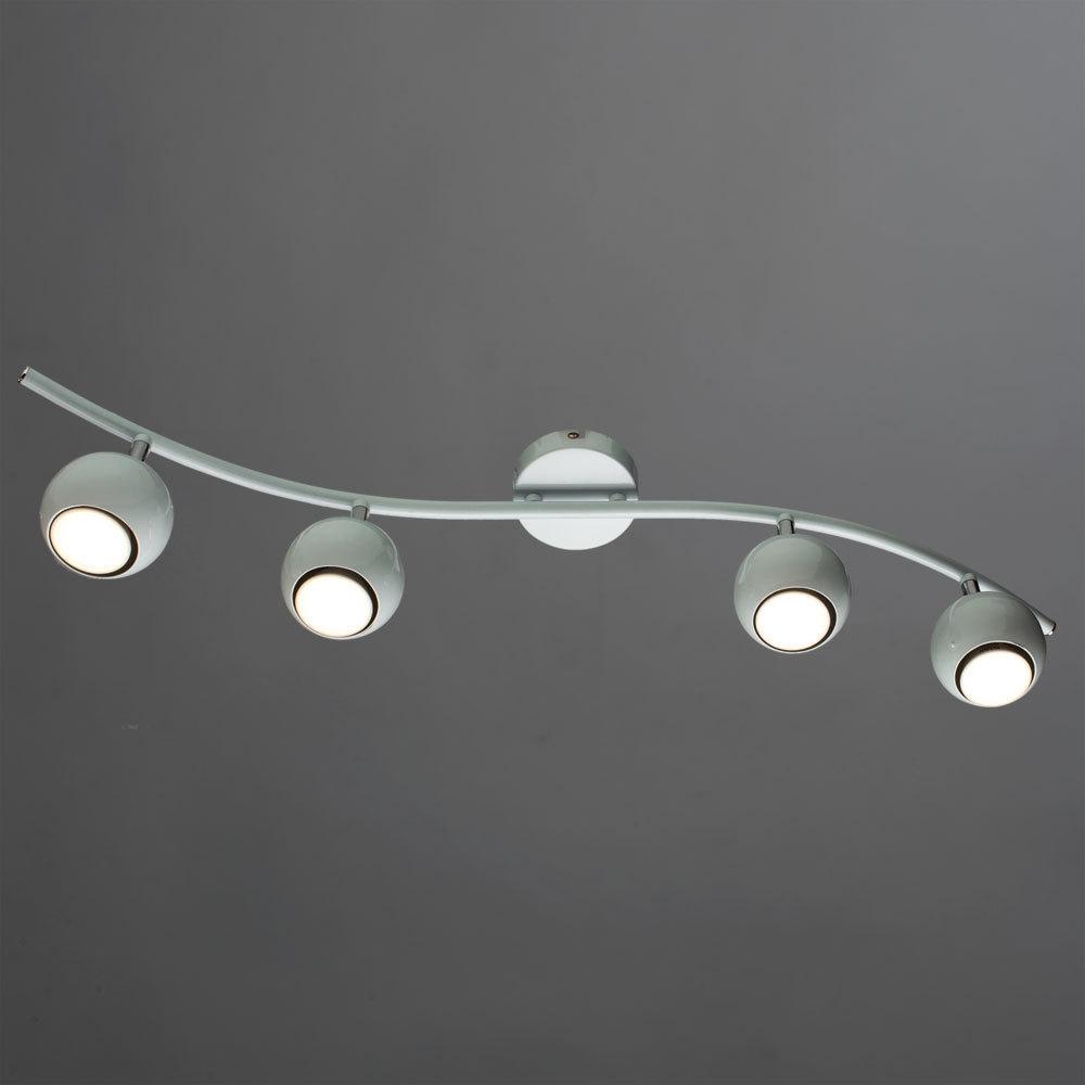 Потолочный светильник с регулировкой направления света Arte Lamp Piatto A6251PL-4WH, 4xGU10x50W, белый, металл - фото 2