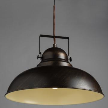 Подвесной светильник с регулировкой направления света Arte Lamp Martin A5213SP-1BR, 1xE27x75W, коричневый с золотой патиной, металл - миниатюра 2