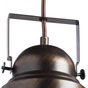 Подвесной светильник с регулировкой направления света Arte Lamp Martin A5213SP-1BR, 1xE27x75W, коричневый с золотой патиной, металл - миниатюра 3