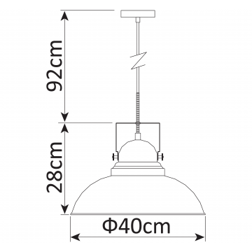 Схема с размерами Arte Lamp A5213SP-1BR