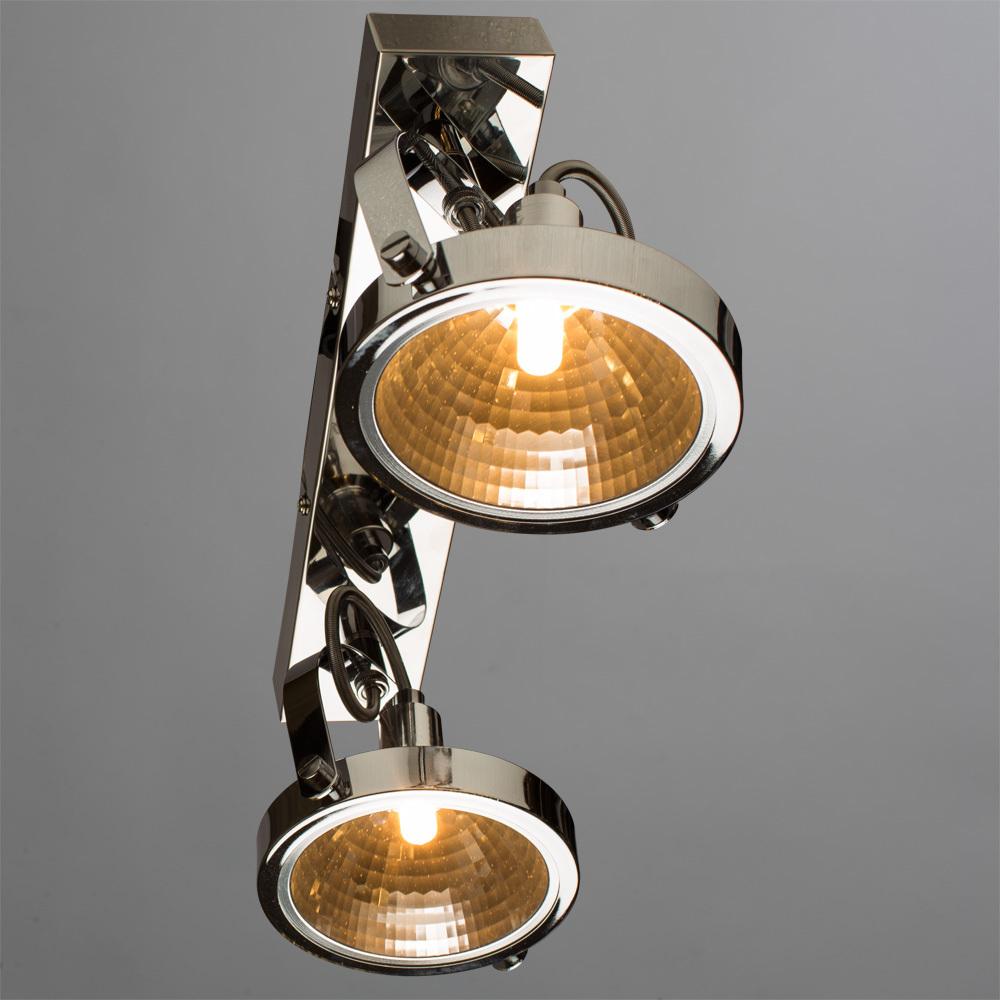 Потолочный светильник с регулировкой направления света Arte Lamp Alieno A4506PL-2CC, 2xG9x40W, хром, металл - фото 1