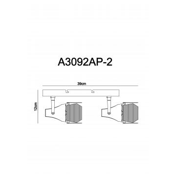 Схема с размерами Arte Lamp A3092AP-2WH