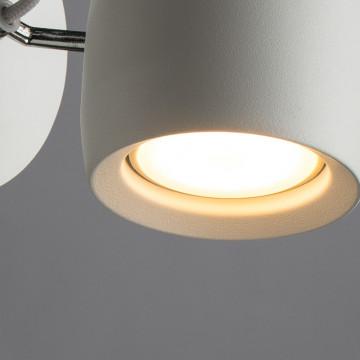 Потолочный светильник с регулировкой направления света Arte Lamp Atlantis A4004AP-1WH, 1xGU10x50W, белый, металл - миниатюра 3