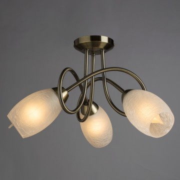 Потолочная люстра Arte Lamp Mutti A8616PL-3AB, 3xE14x40W, бронза, матовый, металл, стекло