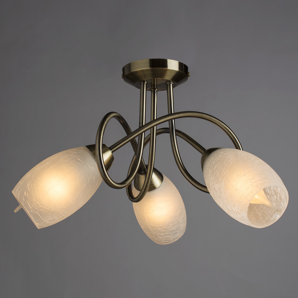 Потолочная люстра Arte Lamp Mutti A8616PL-3AB, 3xE14x40W, бронза, матовый, металл, стекло - фото 1