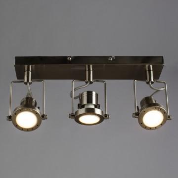 Потолочный светильник с регулировкой направления света Arte Lamp Costruttore A4300PL-3SS, 3xGU10x50W, серебро, металл - миниатюра 1
