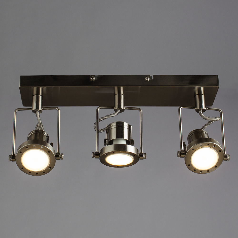 Потолочный светильник с регулировкой направления света Arte Lamp Costruttore A4300PL-3SS, 3xGU10x50W, серебро, металл - фото 1