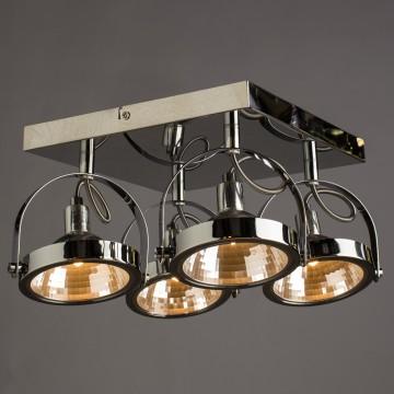 Потолочная люстра с регулировкой направления света Arte Lamp Alieno A4506PL-4CC, 4xG9x40W, хром, металл