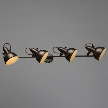 Потолочный светильник с регулировкой направления света Arte Lamp Martin A5215PL-4BR, 4xE14x40W, коричневый с золотой патиной, металл