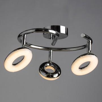 Потолочная светодиодная люстра с регулировкой направления света Arte Lamp Ciambella A8972PL-3CC, LED 13,5W 3000K (теплый), хром, металл, пластик - миниатюра 1
