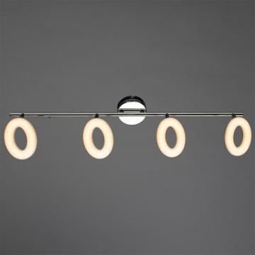 Потолочный светодиодный светильник с регулировкой направления света Arte Lamp Ciambella A8972PL-4CC, LED 18W 3000K (теплый), хром, металл, пластик
